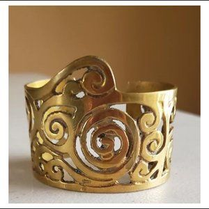 """Jewelry - Gold Colored Cuff Bracelet """"Antique-Looking"""""""